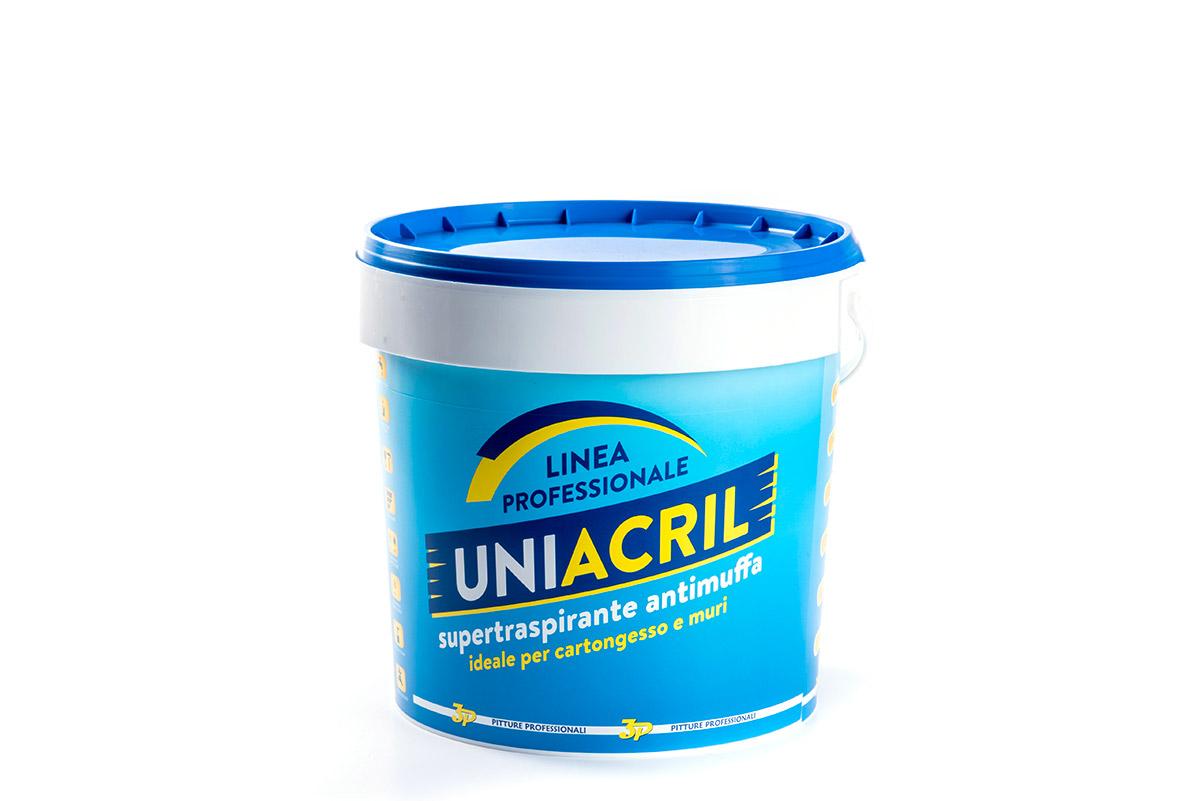 Pitture 3p Uniacril Idropitture professionali traspirante